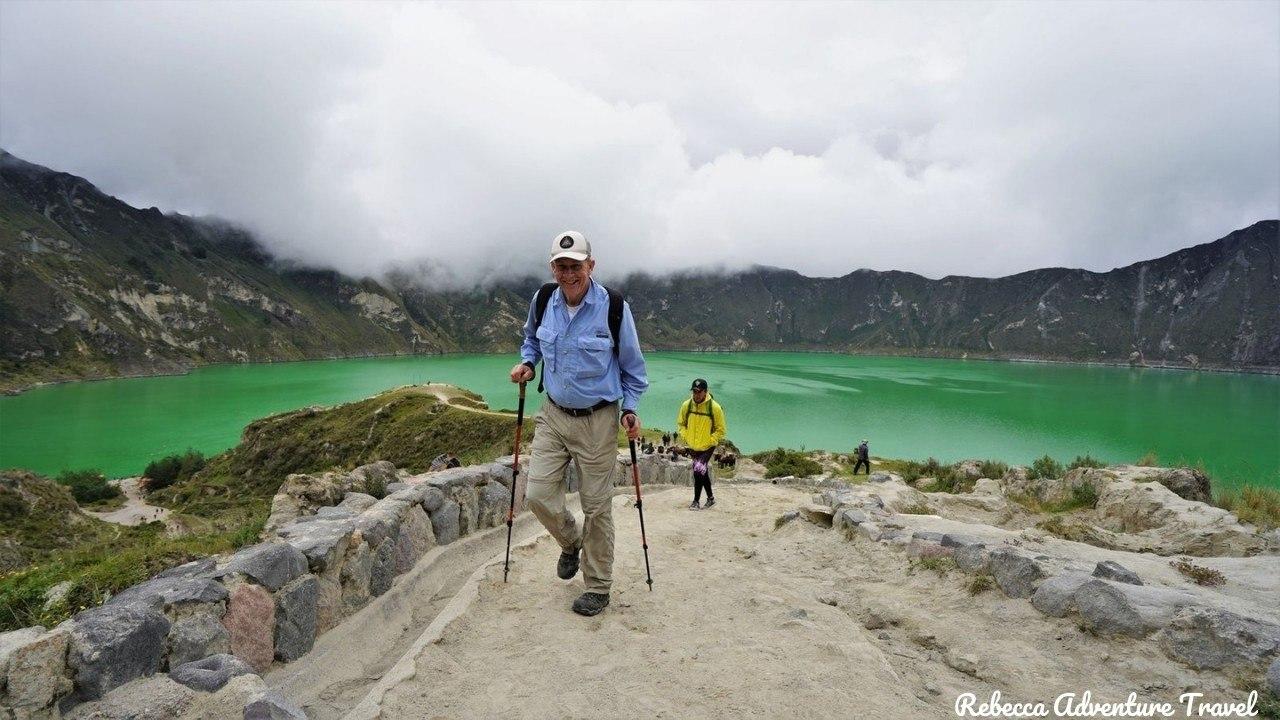 Hiking at Quilotoa Lagoon