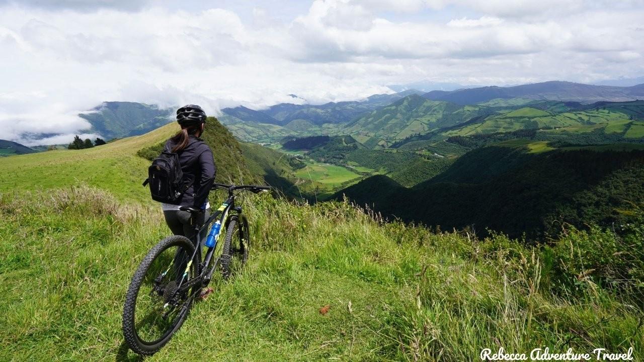 Biking at Mindo