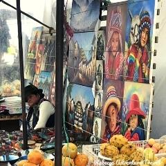 Rebecca Adventure Travel Otavalo Market Art