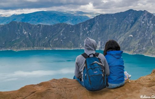 Couple at Quilotoa - Ecuador, Honeymoon Destination